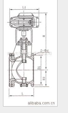 供应ZAJV电子式电动V型调节球阀供应(图)